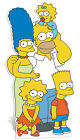 SC-608 The Simpsons Family Hauteur ca.173cm Présentoir en carton Figurine