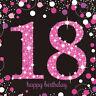 16 x rose Célébration âge 18 ans serviette & Noir 18th anniversaire