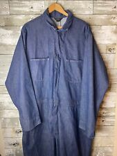 1950s Vintage Sears Tradeswear Coveralls Indigo Denim Workwear Selvedge 46