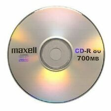 Recordable DISCS CD 10 CD-R Maxell R 52X BLANK IN SLEEVES 700mb Drives Blank