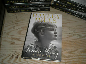 Hayley Mills SIGNED 1st print BOOK Forever Young 1ST EDITION Hardcover ACTRESS