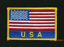 USA SCRIPT FLAG EMBROIDERED HAT PATCH UNITED STATES STARS N STRIPES PIN UP US