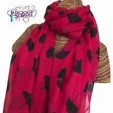 Pink & marine ginkgo feuilles leaf écharpe dames superbe souple qualité nouvelle saison