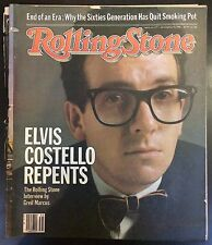 Rolling Stone #377 2nd Sep 1982 Elvis Costello Music Revista