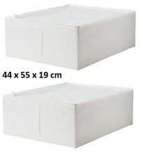 2 x ikea skubb boîtier de rangement sous-lit boîtes blanc armoire organisateur 4...