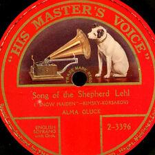 "ALMA GLUCK -SOPRAN- ""Snow Maiden"" Song of the Shepherd Lehl     78RPM S9594"