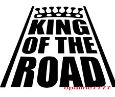 STICKER KING OF THE ROAD CASQUE  tuning auto moto velo HUMOUR JDM AUTOCOLLANT