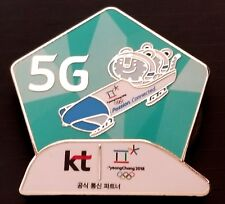 2018 PyeongChang Korea Olympic KT 5G BOBSLED  LARGE MAGNET PIN