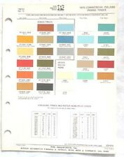 1975  DODGE TRUCK PPG COLOR PAINT CHIP CHART MOPAR ORIGINAL