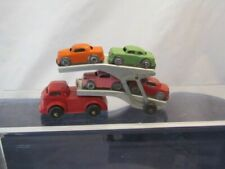 VINTAGE BARCLAY AUTO TRANSPORTER WITH 4 CARS VERY GOOD CONDITION !!