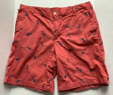 COLUMBIA PFG SHORTS, NANTUCKET RED, MARLIN HULA GIRL, FLAT FRONT, MENS SIZE 36