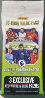 Panini PRIZM 2020-21 Premier League EPL Soccer Cello Value Fat Pack 15 Cards