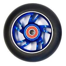 2x Bulletproof Scooter Wheels Metal Alloy Core 100mm ABEC 9 Anodized Blue
