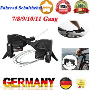 Fahrrad Schalthebel Set 3 x 7/8/9/10/11-Fach Schaltung Schaltset mit Schaltzügen