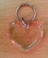 Gadget portachiavi a forma di CUORE x avis innamorato cardiologia TRASPARENTE OR