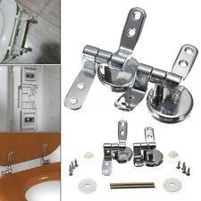 DIY Repair Replacement Toilet Seat Hinges Mountings Set Chrome w/Fittings Screws