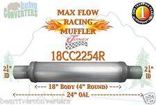"Max Flow Muffler 18"" Round 2 1/4"" 2.25"" Pipe Center/Center 24"" OAL 18CC2254R"