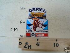 STICKER,DECAL YAMAHA AMSTERDAM STADION CROSS 7 SEPT CAMEL MX, NOT 100 % OK