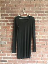 Theyskens Theory Women's Super Luxe Knit Dress Sz Small Transparent Green/Black