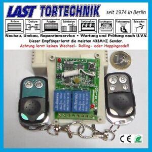 Programmer Basic 2, 433Mhz 2-Kanal Empfänger, Taster/Schalter, 2 St. 2-K.Sender