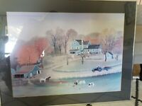 "Michel Delacroix ""Cornerstone Farm"" Custom Framed FREE SHIPPING"