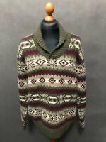 Gant Men's Shawl Neck Wool Sweater Jumper Size 2XL XXL