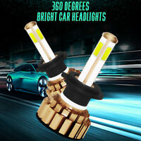 Pair COB H7 48000LM 260W LED Car Headlight Kit Turbo Light Bulbs 4-Sides 6000K
