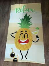 Large Pineapple Relax Beach/Bath Towel
