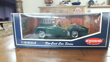 KYOSHO TRIUMPH TR3A  1.18 MODEL WITH BOX  AND FREE POST