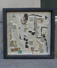 Mid Century Danish Abstract mosaic artwork. Signed and dated 1964.