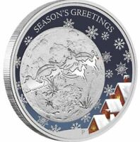 2014 CHRISTMAS Coloured Silver Proof Coin
