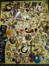 HUGE 150 pc PREOWNED ESTATE LOT PENDANTS CHARMS SLIDES JEWELRY VINTAGE TO MODERN
