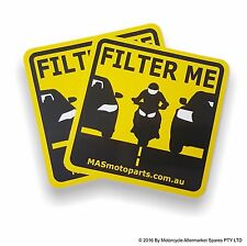 FILTER ME STICKER motorcycle lane filtering bumper sticker | Two (2) pack