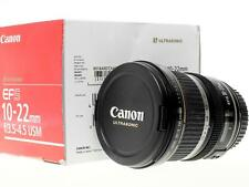 Canon EF-S 10-22mm f3.5-4.5 USM caps retail box very good condition