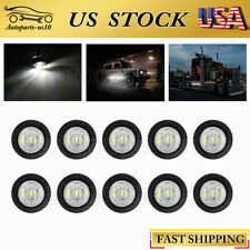 "10pcs 3/4"" Trailer Marker Lights White LED Side Light for JEEP Truck Auto 12V"