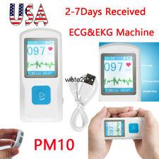 Pm10 Handheld Portable Ecg Machine Heart Beat Monitor Usb Bluetooth Recorder Lcd