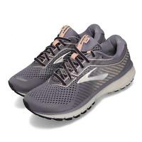 Brooks Ghost 12 Wide Purple Grey Women Running Training Shoes Sneakers 120305 1D