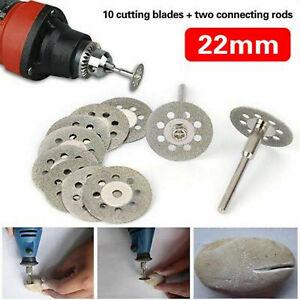 10x Mini Diamond Cutting Discs Wheel Blades Drill Bit Disc Dremel Rotary Tool