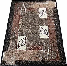 Falling Leaves Oriental Woven 5x8 Area Rug Black Actual Size 5'2 x 7'0