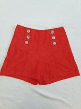 RIVER ISLAND Red Lace Shorts Size 10