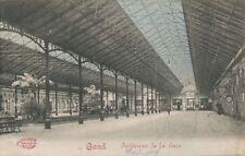 AK, Grafik, Gand / Gent - Interieur de la Gare, 1914; 5026-95
