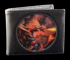 DRAGONI PORTAMONETE NERO 3D - Fire Dragon by Anne Stokes UOMO borsellino