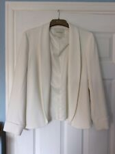Monsoon Ladies Ivory Edge to Edge Front, Lined, FittedJacket Size 12 NWOT RRP£69