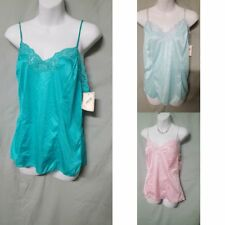 9ad8d5477d5 VENTURA Pink Green Blue Nylon Camisole Top Vintage Style Size 1X 2X 3X