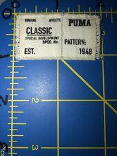 Puma Patch Tag Sportswear Genuine Athletic Apparel Classic Special Development