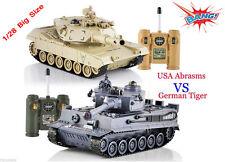 Radio Control RC Battle tank Abrams Vs German Tiger 2 tanks ! T90 Vs King Tiger
