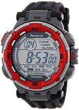 Armitron Men's Black Resin Watch, 100 Meter WR, Chronograph, 40/8301RED