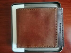 Fossil,Wallet,Bifold,Genuine Leather,Brown,Men's