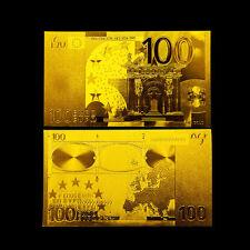 EUROPEAN BANKNOTE 100 EUROS GOLD 24K