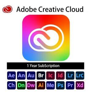 Adobe Creative Cloud 1 year, all apps, 100gb cloud storage